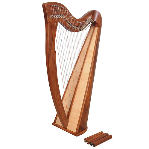 Claddagh 28 String Rosewood Harp