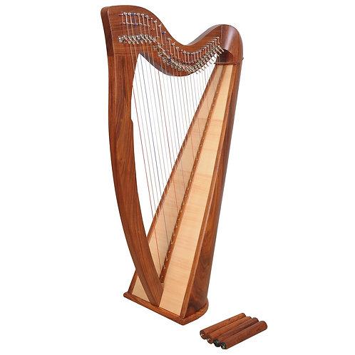 Claddagh 28 String Rosewood Harp