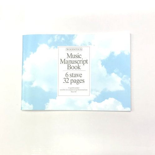 Music Manuscript 6 Stave Book