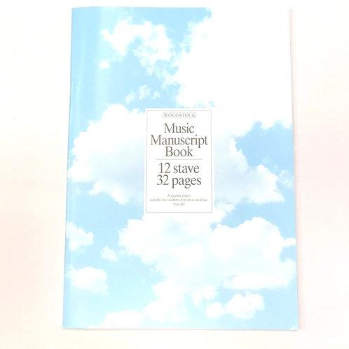 Music Manuscript 12 Stave Book