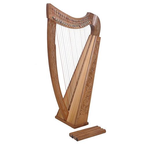 Boru 22 String Walnut Harp