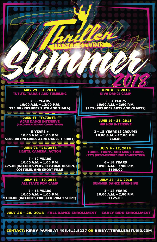 Summer Camps- 2018