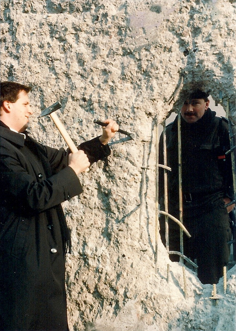 Brian Schiff at the Berlin Wall