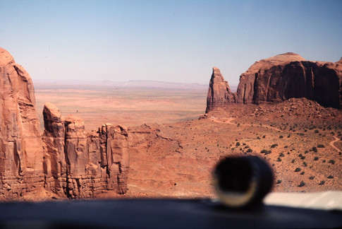 Flying in Monument Valley
