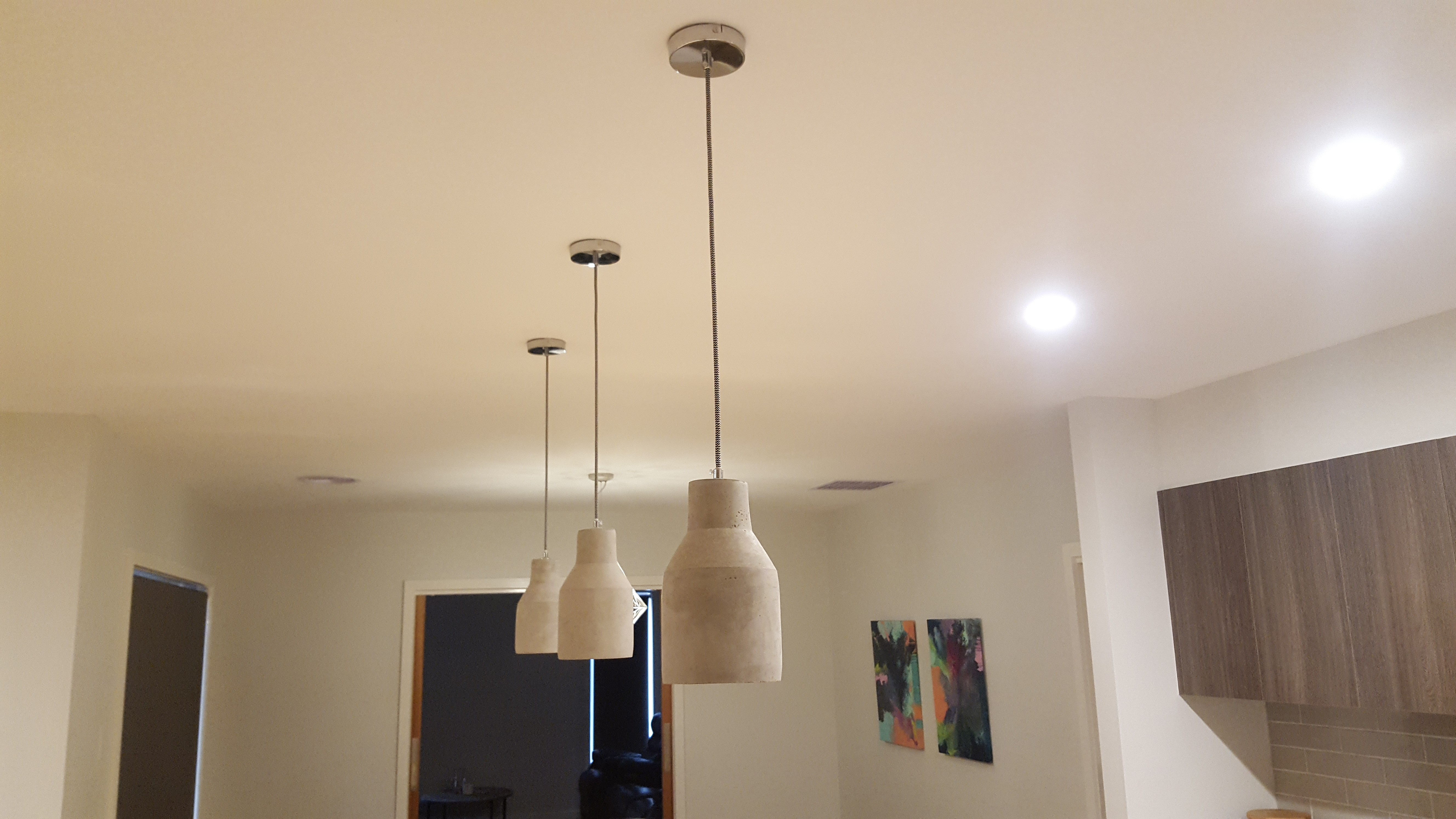 Suspended lighting
