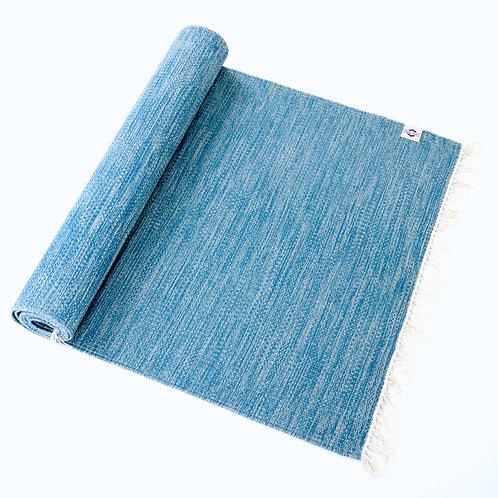 オーガニック ヨガラグ Waves 藍染 63x195cm