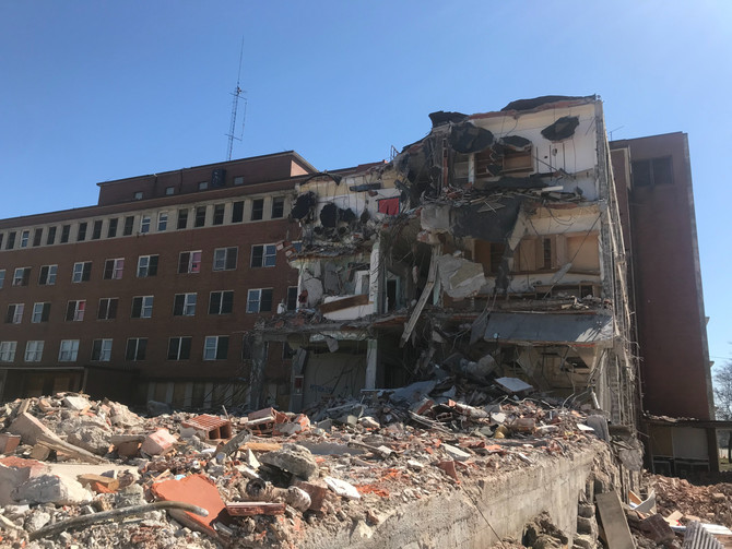 Demolition continues on West Wing