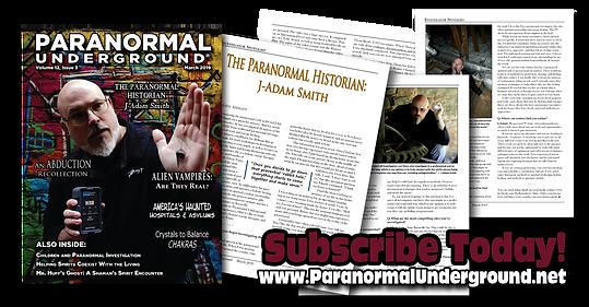 paranormal underground magazine featurin