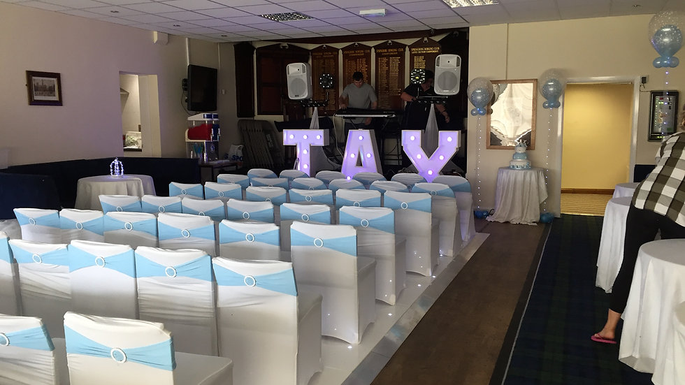 Chair Covers & Cake Table Decor