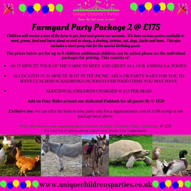 Farmyard party package 2