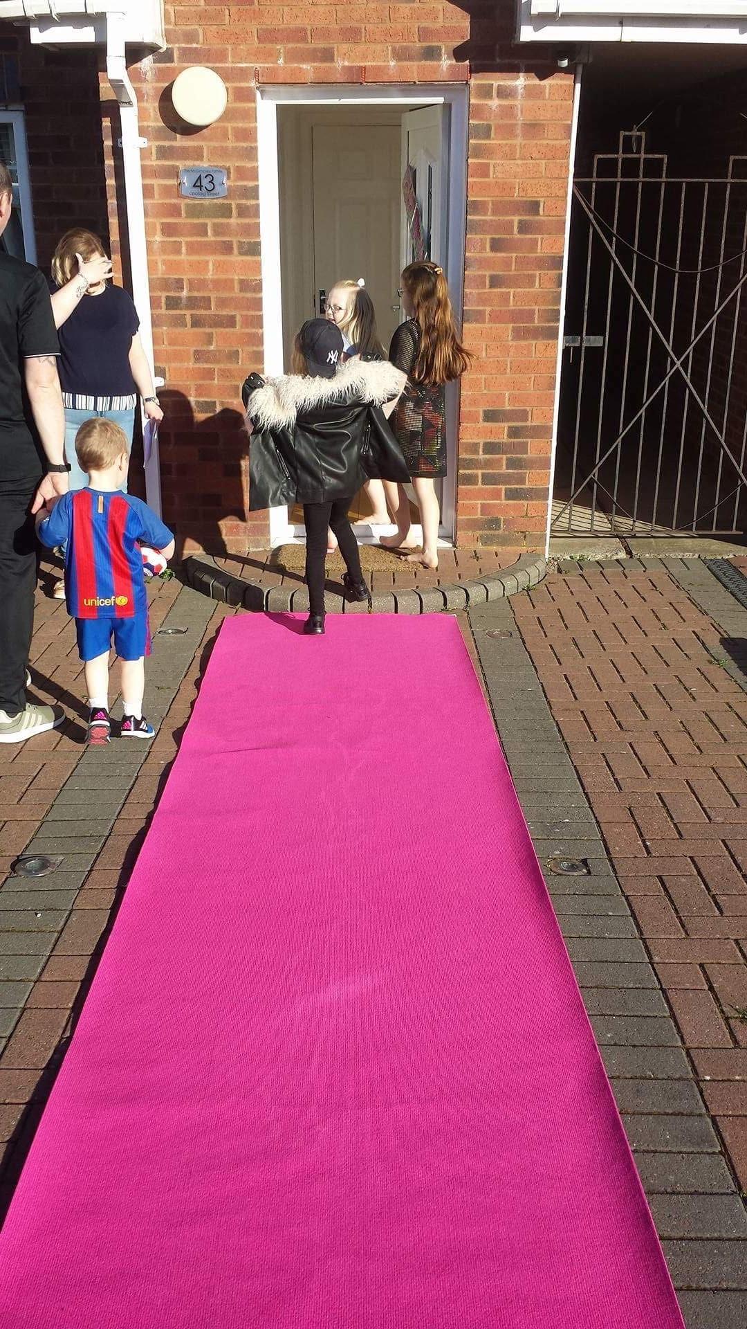 Pink Carpet treatment