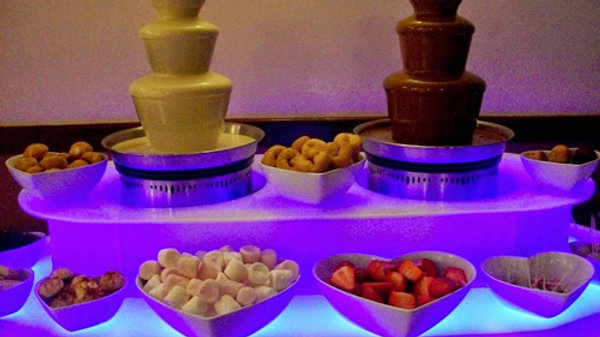 Twin 3 tier Chocolate Fountains