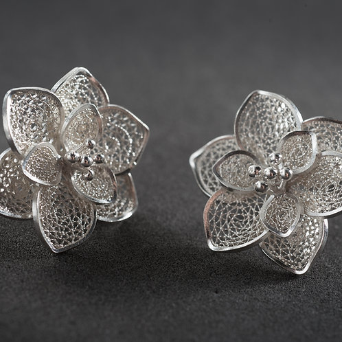 Silver Filigree Earring