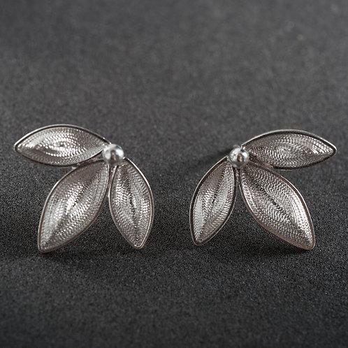 Silver Filigree Earring
