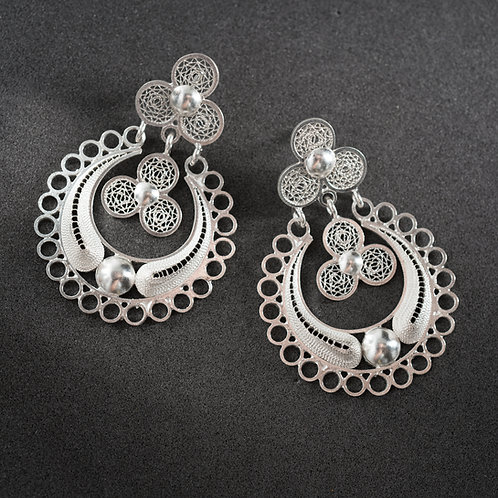 Silver Filigree Earrings