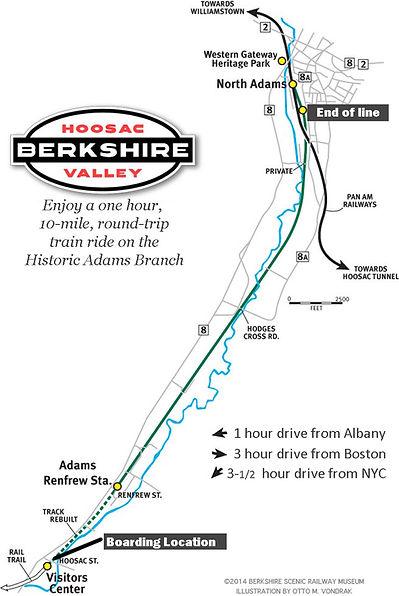 Bekshire Train Ride Map