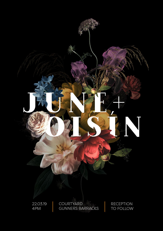 JUNE'S INVITATION TEMPLATE black