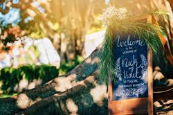 Handwritten Welcome Sign
