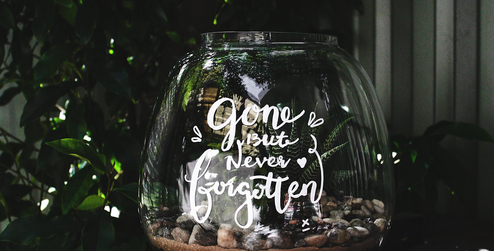 Sympathy Message Terrarium