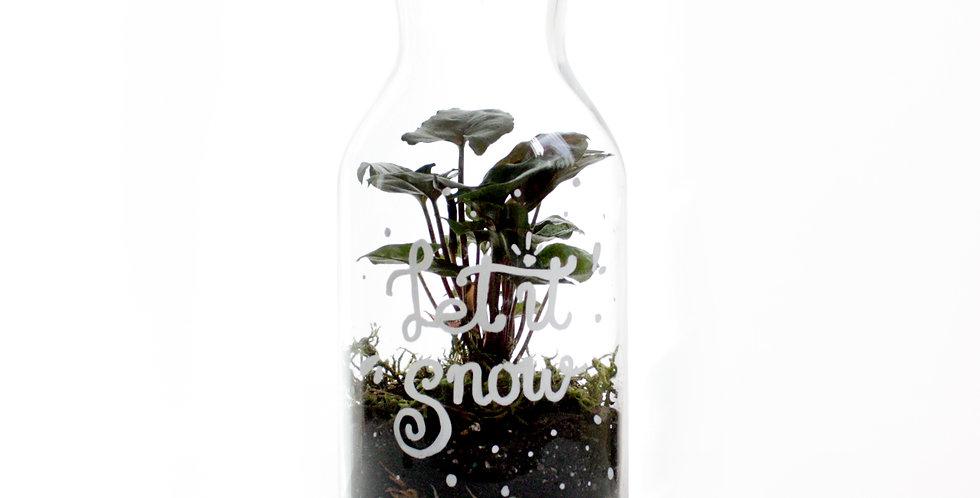"""""""Let It Snow"""" Christmas Message Terrarium"""