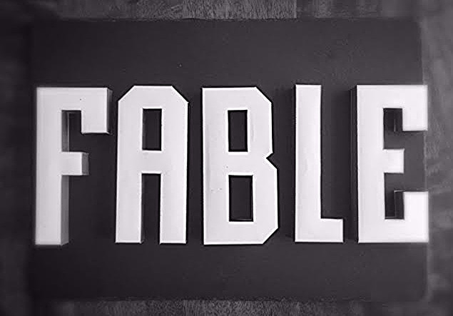 Fable 3D letter handmade by Wendy Gao