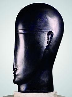 Blue Head with Glasses - Resin, Anton Smit, Uitstalling Art Gallery, Genk, Belgium