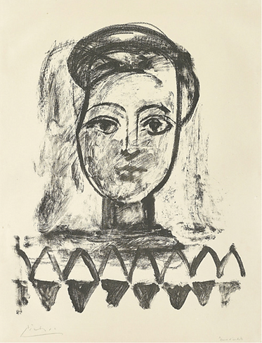 Pablo Picasso, Jeune Femme au corsage à triangles, Sculpture, kunst, art, kunstgalerij, art gallery, galerie d'art, kunstgalerie, paintings, prints and multiples, exhibition, tentoonstelling, art investment, art advisory, for sale