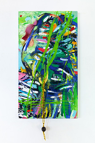 Lush_Liza Grobler_52x111cm_oil and mixed