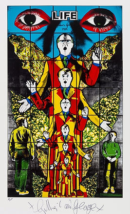 Gilbert and George, Life, Sculpture, kunst, art, kunstgalerij, art gallery, galerie d'art, kunstgalerie, paintings, prints and multiples, exhibition, tentoonstelling, art investment, art advisory, for sale