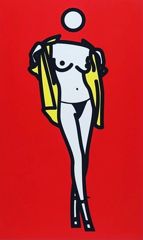 Julian Opie, Woman taking off a man's shirt, Screen Print, kunst, art, art gallery, galerie d'art, kunstgalerie, paintings, prints and multiples, exhibition, art investment, art advisory, for sale