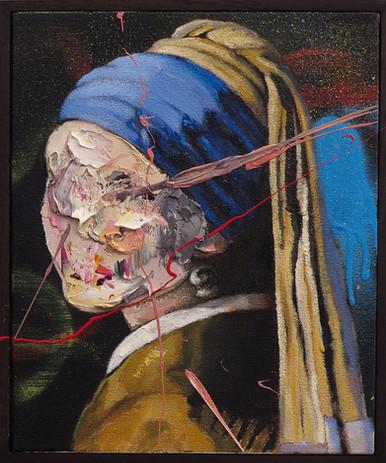 Frans Smit 25 x 30 cm framed oil on canv