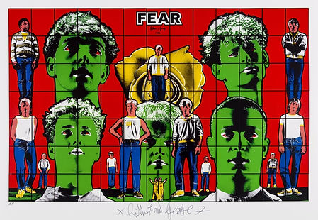 Gilbert and George, Fear, Sculpture, kunst, art, kunstgalerij, art gallery, galerie d'art, kunstgalerie, paintings, prints and multiples, exhibition, tentoonstelling, art investment, art advisory, for sale