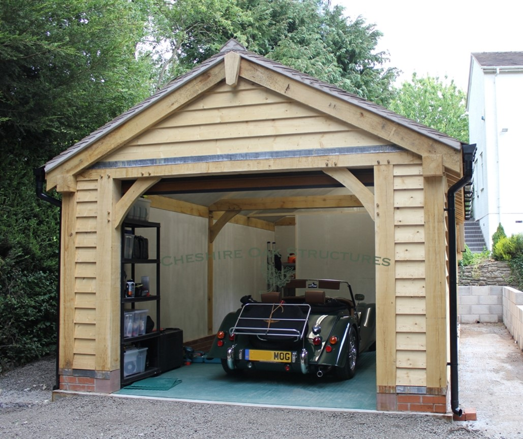 One_Bay_Oak_Frame_Garage_&_Workshop_Ches