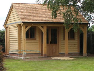Oak Frame Summerhouse - A Case Study - From Design to Completed Oak Structure