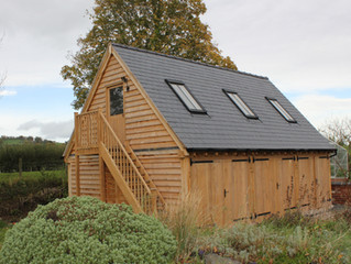 Oak Garage for Listed Building creating space for teenagers, no problem, here's how we achieved