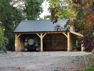 Two Bay Oak Frame Garage - From Design to Completion