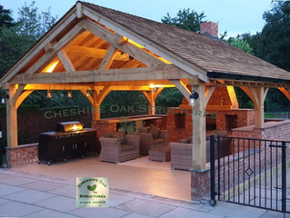 Oak Sun Room, Garden Room, Cookhouse, Pool Shelter, Entertainment Space - Our Oak Structures are so