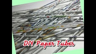 HOW TO MAKE  DIY PAPER TUBES EASILY USING NEWSPAPER