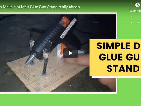 How to Make Hot Glue Gun Stand