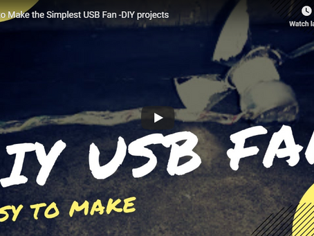 How to Make the Simplest USB Fan - DIY projects