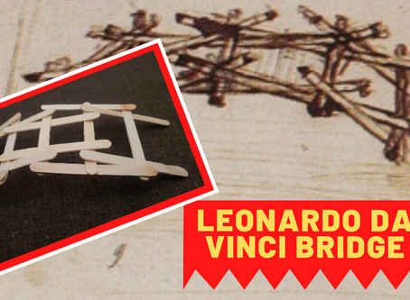 DIY Leonardo da Vinci Popsicle Stick Bridge model