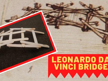 DIY Leonardo da Vinci Popsicle Stick Bridge model