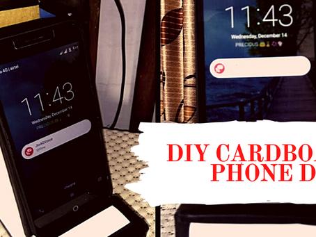 How to make Simple DIY Cardboard Mobile phone dock