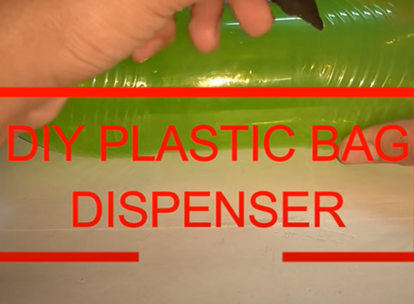 HOW TO MAKE A DIY PLASTIC BAG DISPENSER at home very easily