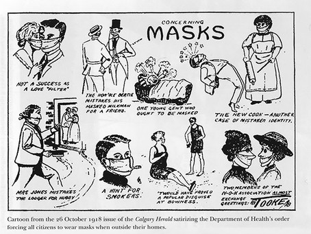Posters for Social Distancing & Facemasks in 1918 same as in 2020