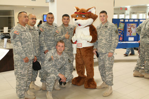 Red E Fox Salutes Our Troops.