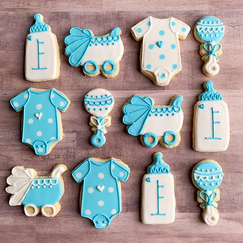 Boy Baby Shower Cookies
