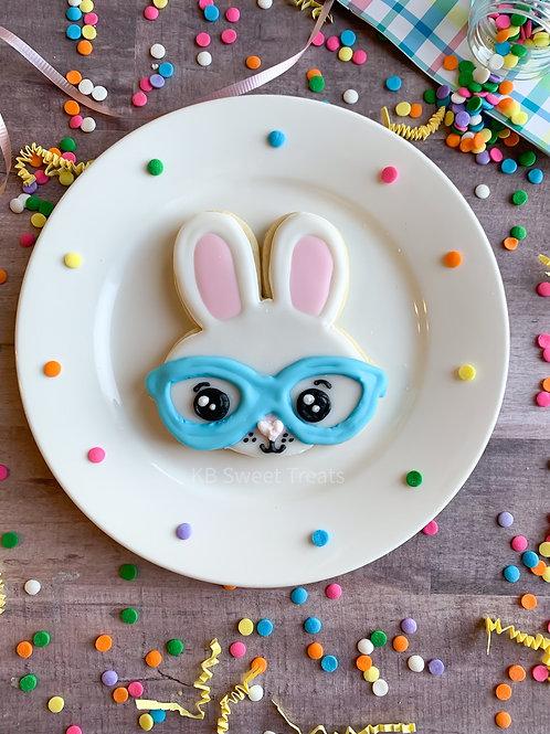 Nerdy Bunny Cookie