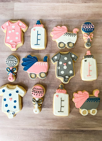 Girly Baby Shower Cookies