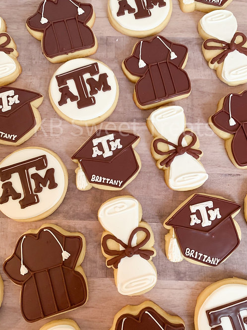 A&M Graduation Cookies